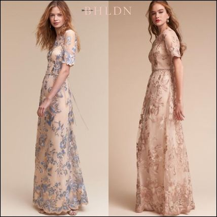 Anthropologie取扱いBHLDN★Guilia Dress花柄刺繍ロングドレス