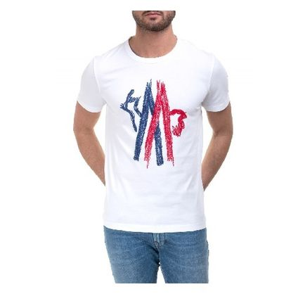 MONCLER Tシャツ・カットソー 17SS新作【MONCLER】ロゴ入りコットンTシャツ 白(2)