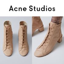 Acne Studios/17SS メッシュレザー レースアップブーツ Mable