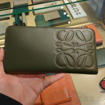 LOEWE Outlet セール★ロエベ Zip Around Wallet カーキ