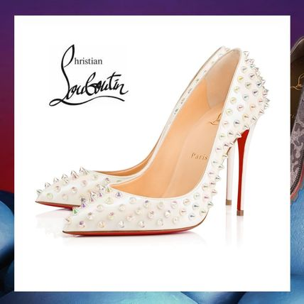 Christian Louboutin パンプス 希少 17SS LOUBOUTIN Follies Spikes Patent 100mm