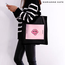 Marianne kate(マリアンケイト) エコバッグ Marianne kate★正規品★It's Yummy エコバッグ(black)