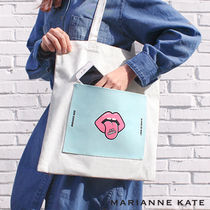 Marianne kate(マリアンケイト) エコバッグ Marianne kate★正規品★It's Yummy エコバッグ(ivory)