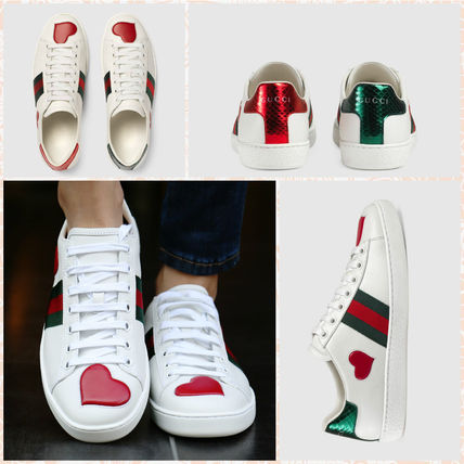 GUCCI is now shipping the heart Ace low-top sneakers