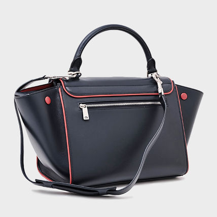 a2d39fe5d036 ... CELINE ハンドバッグ ☆国内発送☆CELINE トラペーズ スモール 2WAYバッグ♪ NAVY/RED( ...