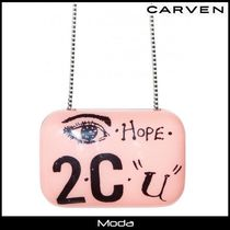 ★CARVEN★カルヴェンクラッチバッグピンク〈国内発送・関税無〉