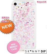 大人気新2017★SKINNYDIP★iPhone7 HEART SEQUIN JELLY CASE