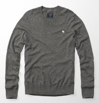 ★即発送★在庫あり★A&F★Wool-Blend Icon V-Neck Sweater★