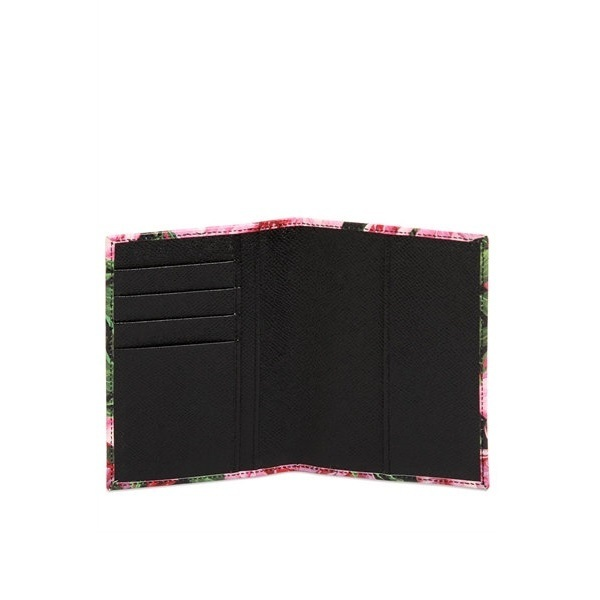 ☆17SS☆ DOLCE & GABBANA ROSE PRINTED PASSPORT HOLDER