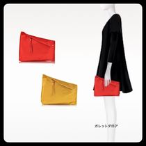 ★DIANEvonFURSTENBERG ★SATIN ASYMETRIC CLUTCH BAG★送料込★