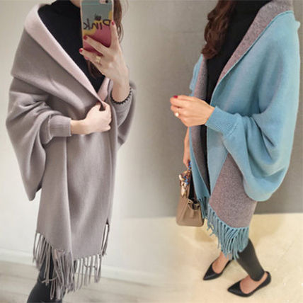 Very cute adult shawl-style long cardigan commuter