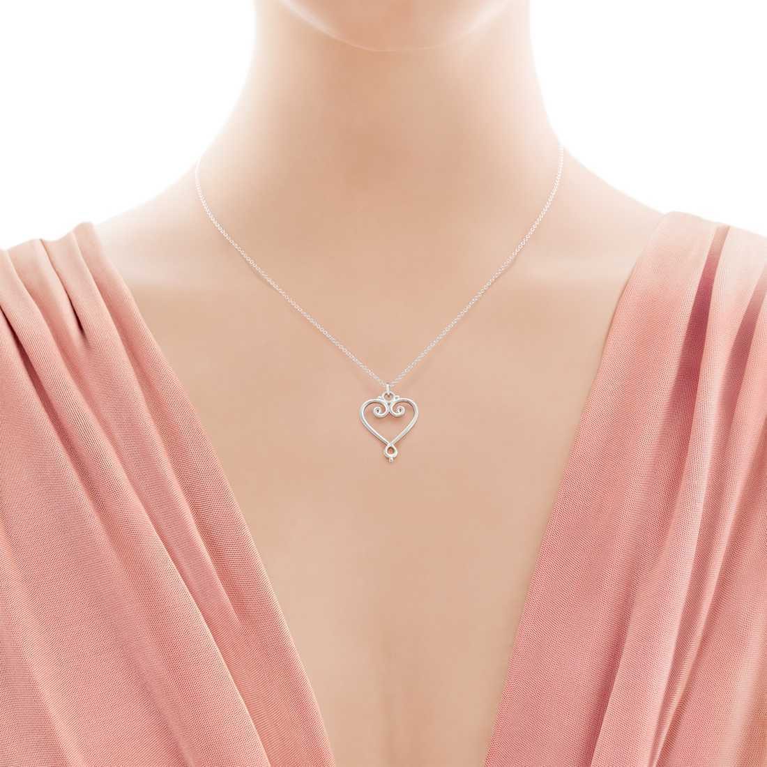 【Tiffany & Co】Paloma Picasso Goldoni Heart Pendant