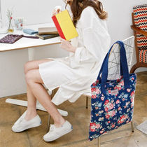 ◆Cath Kidston◆WASHED TOTE FOREST BUNCH NAVY