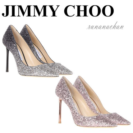Jimmy Choo Romy glitter pumps 100 mm