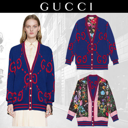 ' Can be worn in the Gucci 17 reversible Guccighost cardigan