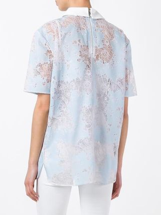 CARVEN ブラウス・シャツ ♪送料・関税込 CARVEN classic collar lace T-shirt♪(4)