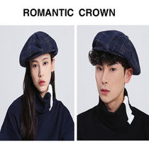 ROMANTIC CROWN(ロマンティック クラウン) ベレー帽 ROMANTIC CROWN ★ NEWS BOY CAP NAVY