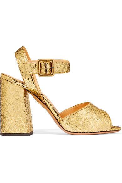 ☆海外発送 Charlotte Olympia Emma glittered leather sandals