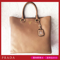 【国内即発】PRADA 1BG865 VITELLO PHENIX 2WAY トート 茶