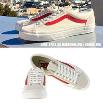 VANS★STYLE 36★25.5~28cm★MARSHMALLOW/RACING RED