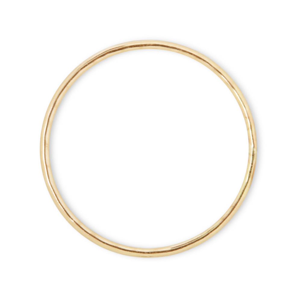 CLASSIC HAMMERED RING, YELLOW GOLD(US5-9号)