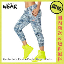 ZUMBA Let's Escape Denim Harem Pants|ズンバ パンツ Denim