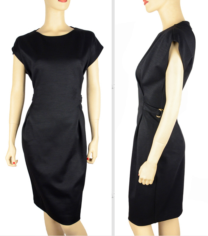 GUCCI★グッチ★素敵!BLACK WOOL BLEND HORSEBIT DETAIL DRESS