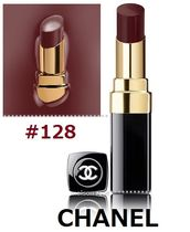 CHANEL *ROUGE COCO SHINE*(#128、NOIR MODERNE)