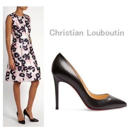 #Christian Louboutin ★ Pigalle 100mm leather pumps
