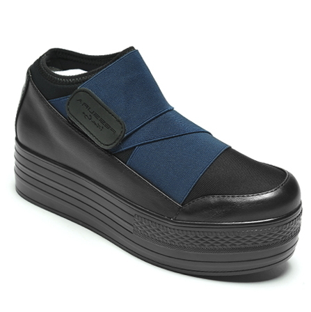 FESSURA★Mummy Shoes★DOUBLE SPORTBAND_navy_125
