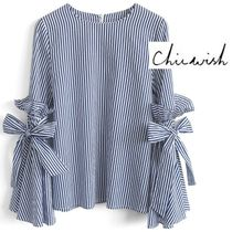 【Chicwish】Stripes Charisma Top with Bell Sleeves