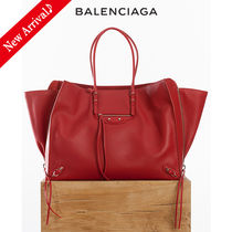VIPセール♪♡BALENCIAGA Zip Around Paper Bag A4,Rouge