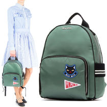 MM206 SATIN BACKPACK WITH APPLIQUE