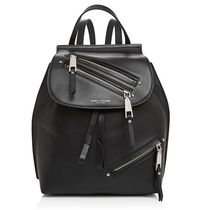 【 MARC JACOBS 】 Zip Pack Small Leather Backpack 黒
