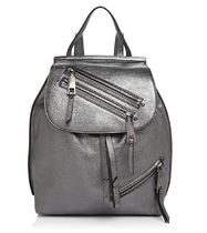 【 MARC JACOBS 】 Zip Pack Small Metallic Backpack ガンメタ