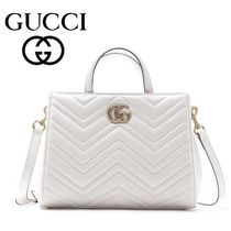 17春夏新作 ☆Gucci☆ GG MARMONT Matelaasse Top Handle Bag♪