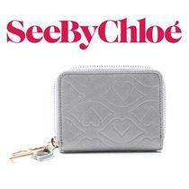 17SS新作 ☆See by Chloe☆ BISOU コインケース PEARL GREY♪