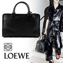 LOEWE Amazona 44 Leather Boston Bag Black