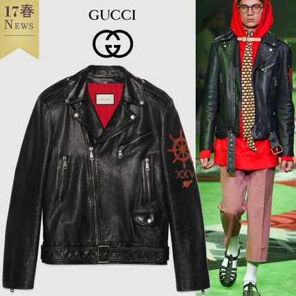Blind for Love XXV leather by car jacket GUCCI