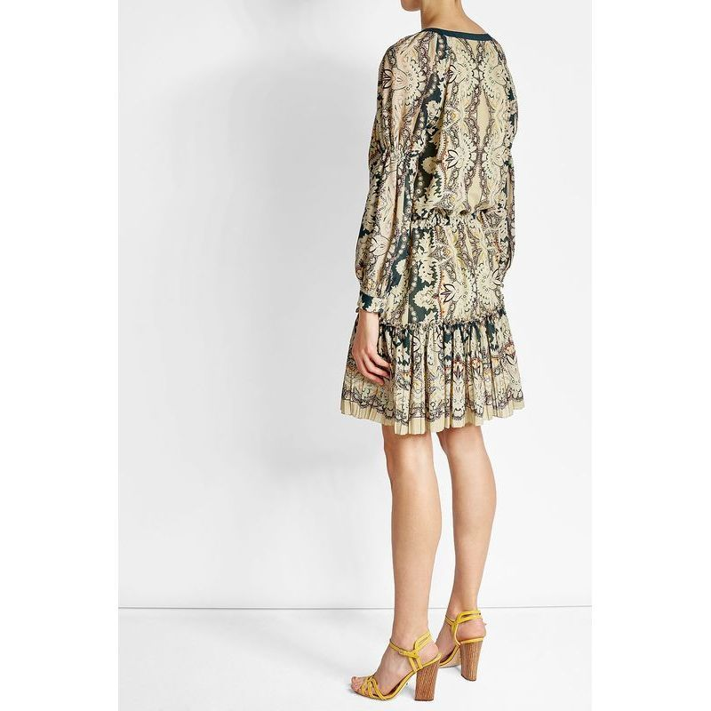 ETRO(エトロ)★Printed silk mixed cotton dress★