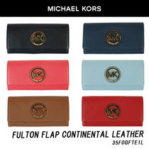 Michael Kors Fulton Flap Continental Leather 35F0GFTE1L