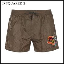 D SQUARED2(ディースクエアード) 水着 D SQUARED2(ディースクエアード)★swim shorts with patches★