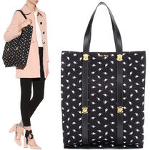 MM222 CAT PRINTED CANVAS TOTE