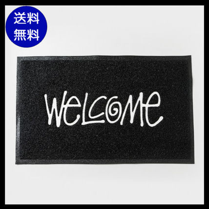"popular STUSSY ""WELCOME"" PVC door mat black"