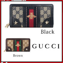GUCCI Vintage canvas wallet レディース長財布 2カラー