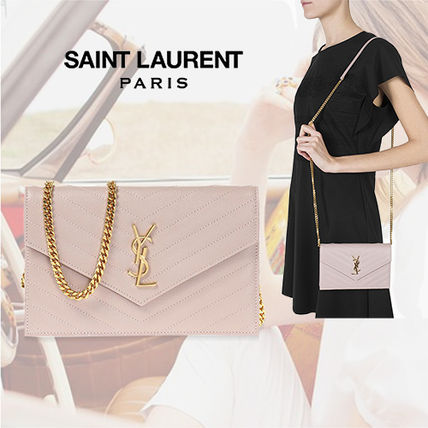 SAINT LAURENT Matrasse Monogram Wallet On Chain Cluth Bag