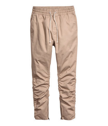 H&M パンツ SS16 H&M TWILL JOGGER TAN PANTS ZIP FOG タン 28-36 送料無料
