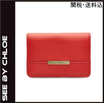 Sale★See by Chloe★レザーウォレットred【送料・関税込】