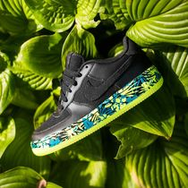 NIKE AIR FORCE 1 PREMIUM ( BLACK/VOLT/RIO TEAL)