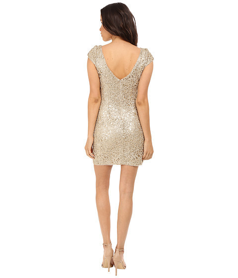 ★人気★Sequin Chem Lace Shift Dress Sheath Dress